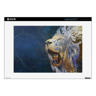 "Beautiful colorful lion skin for 15"" laptop"
