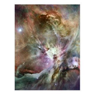 Beautiful, colorful Orion nebula Postcard
