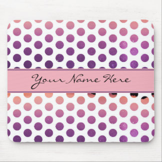 Beautiful Colorful Polka Dots | Customizable Mouse Pad