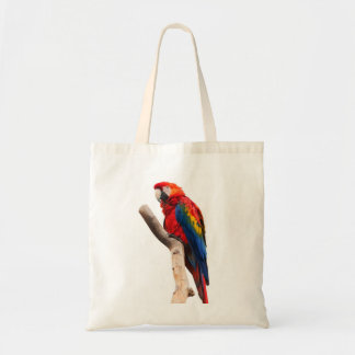 Beautiful Colorful Scarlet Macaw Parrot Bird Tote Bags