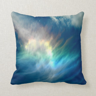 Beautiful colorful  sun light effects clouds throw pillow