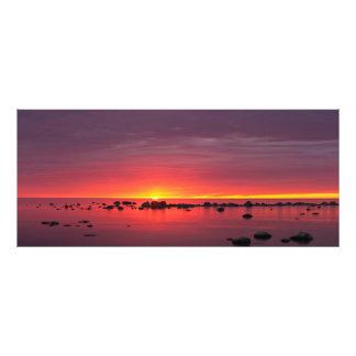 Beautiful colorful sunset panorama photo