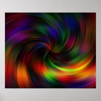 Beautiful colorful Swirl Pattern Poster