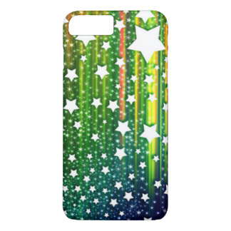 beautiful colorful vector drop down stars iPhone 7 plus case