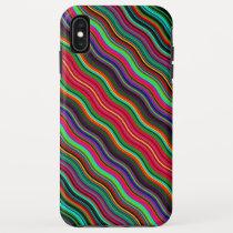 Beautiful Colorful Wavy Stripe Pattern iPhone XS Max Case