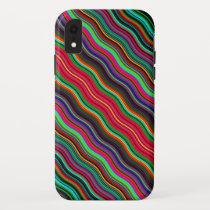 Beautiful Colorful Wavy Stripe Pattern iPhone XR Case