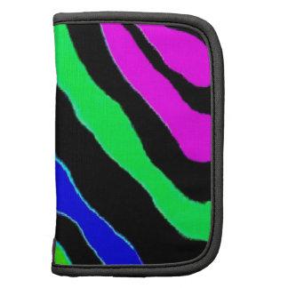 Beautiful colorful zebra animal print organizers