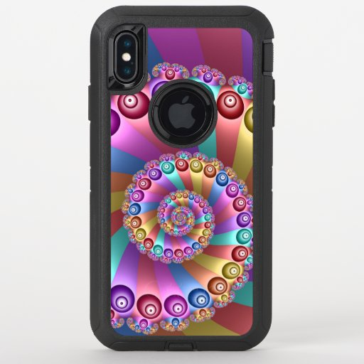 Beautiful Colors Modern Abstract Fractal Art OtterBox Defender iPhone XS Max Case