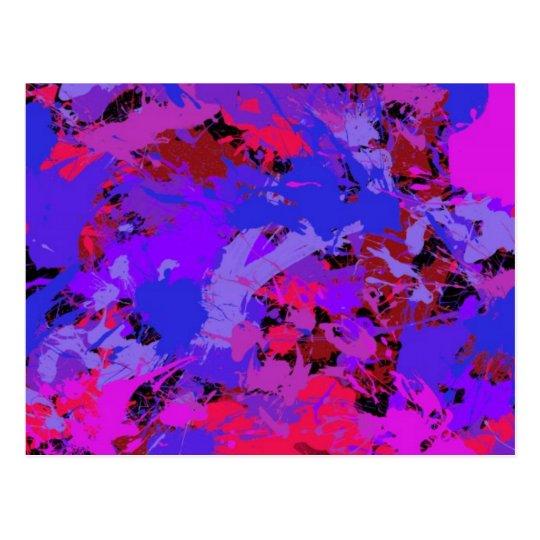 Beautiful Colors Splash Drops  Style Fashion Effec Postcard