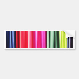 Beautiful Colors, Style Fashion Blur Motion Effect Bumper Sticker
