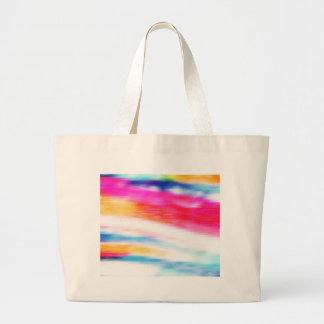 Beautiful Colors, Style Fashion Blur Motion Effect Large Tote Bag
