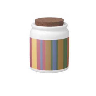 beautiful coloured stripes candy jar
