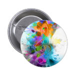 Beautiful colourful and cool splatter music note 2 inch round button