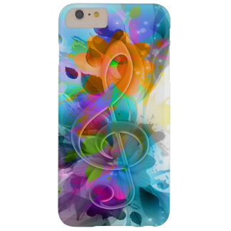Beautiful colourful and cool splatter music note barely there iPhone 6 plus case