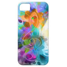 Beautiful colourful and cool splatter music note iPhone 5 case
