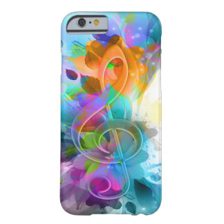 Beautiful colourful and cool splatter music note barely there iPhone 6 case