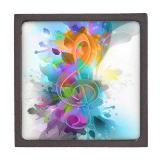 Beautiful colourful and cool splatter music note keepsake box