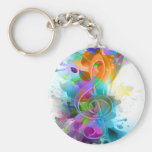 Beautiful colourful and cool splatter music note keychain
