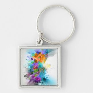 Beautiful colourful and cool splatter music note key chain
