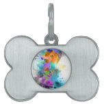 Beautiful colourful and cool splatter music note pet tags