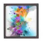 Beautiful colourful and cool splatter music note premium keepsake box