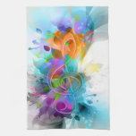 Beautiful colourful and cool splatter music note towels