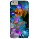 Beautiful colourful cool splatter flowers leaves barely there iPhone 6 plus case