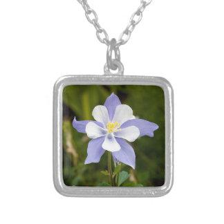 Beautiful Columbine Square Pendant Necklace