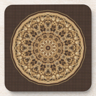 Beautiful Complex Wood-like Carving Drink Coaster