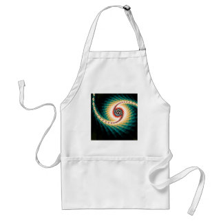 Beautiful computer generated colorful fractals adult apron