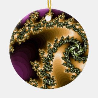 Beautiful computer generated colorful fractals ceramic ornament