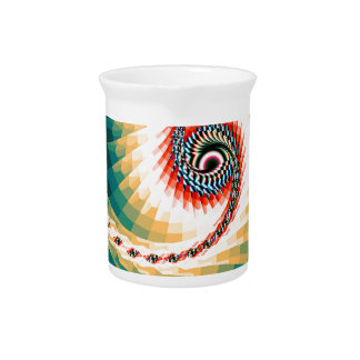 Beautiful computer generated colorful fractals drink pitcher