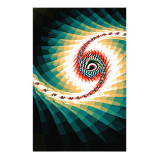 Beautiful computer generated colorful fractals stationery