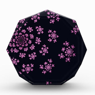 Beautiful computer generated purple fractal award