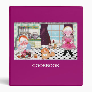 "Beautiful cookbook "" Cooking with friends"" Binder"