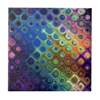 Beautiful cool abstract squares circles glass glow ceramic tile