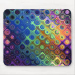 Beautiful cool abstract squares circles glass glow mouse pad
