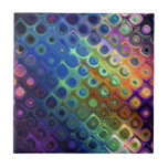 Beautiful cool abstract squares circles glass glow small square tile