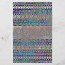 Beautiful cool colourful Aztec geometric pattern
