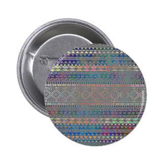 Beautiful cool colourful Aztec geometric pattern Pinback Button