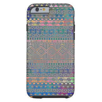 Beautiful cool colourful Aztec geometric pattern iPhone 6 Case