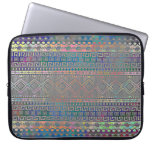 Beautiful cool colourful Aztec geometric pattern Computer Sleeve
