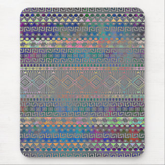 Beautiful cool colourful Aztec geometric pattern Mouse Pad