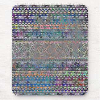 Beautiful cool colourful Aztec geometric pattern Mouse Pad