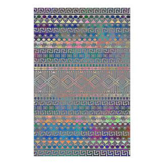 Beautiful cool colourful Aztec geometric pattern Stationery