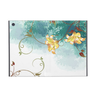 Beautiful cool different blue tones watercolour iPad mini cover