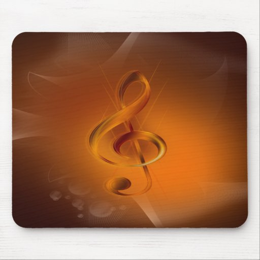 Beautiful cool glowing fire colours effects music mousepad
