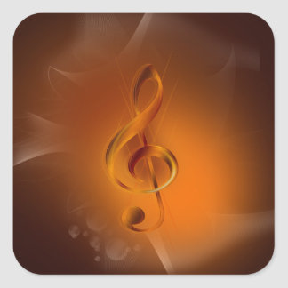 Beautiful cool glowing fire colours effects music square sticker