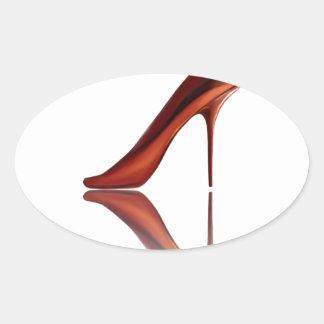 Beautiful COOL high-heels Oval Sticker