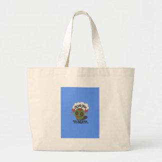 Beautiful Cool I love Africa Art Large Tote Bag